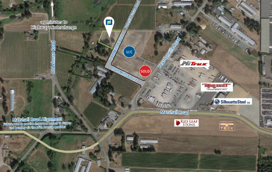 0.99 Acre Lot in New Industrial Subdivision