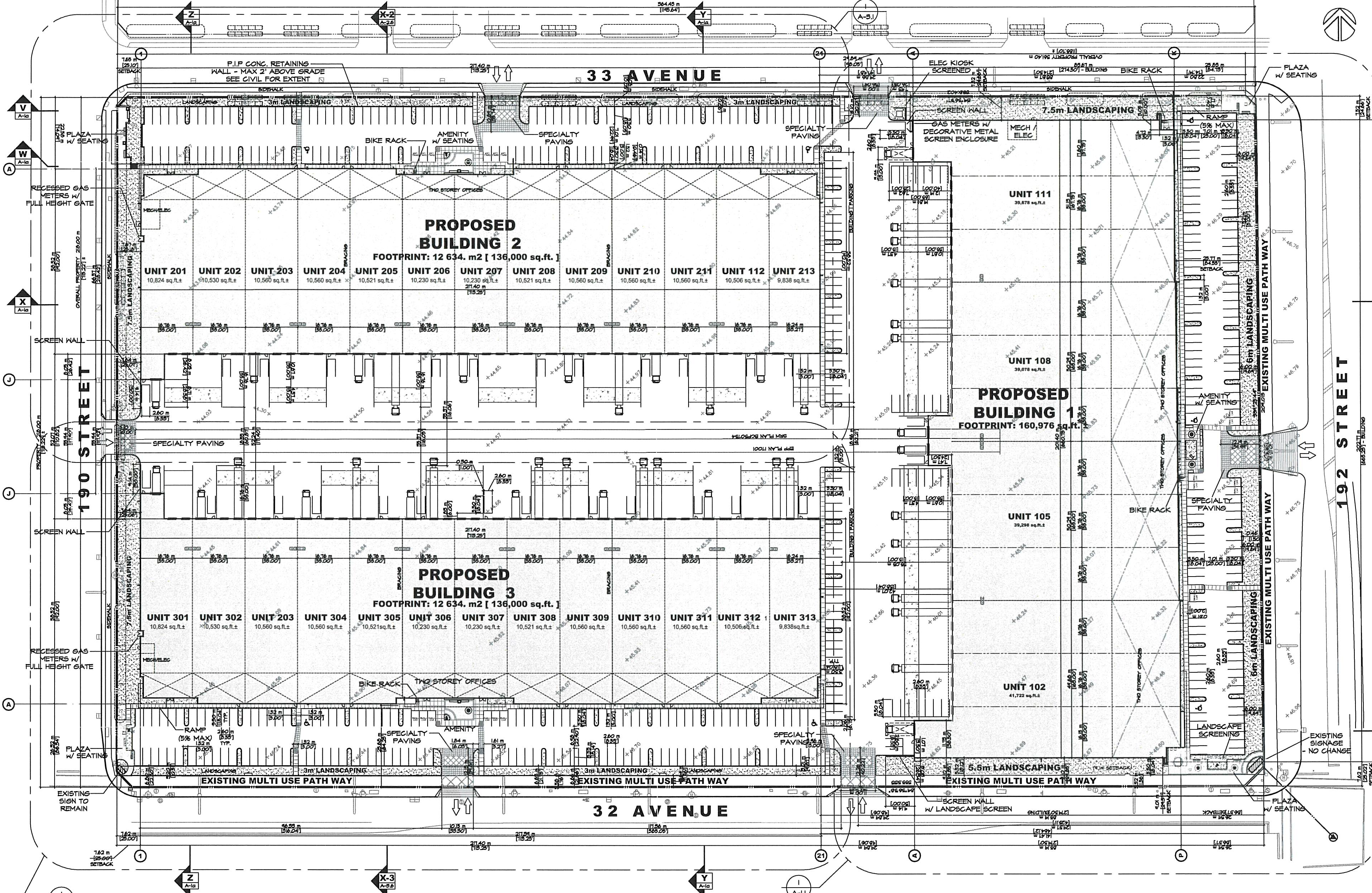 192 Street & 32 Avenue Lease Project  Site Plan
