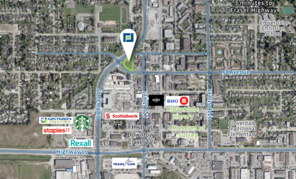 25,727 sf of Commercial Land in Cloverdale
