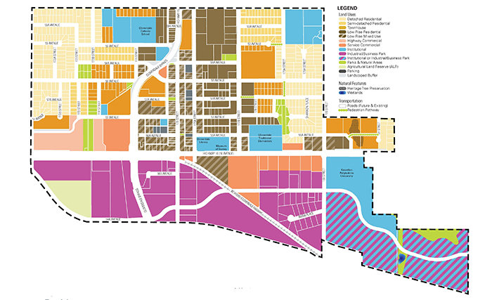 Cloverdale Town Centre Plan draft land use map from the City of Surrey (https://www.surrey.ca/city-services/15220.aspx)