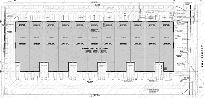Site plan of Foy Business Centre
