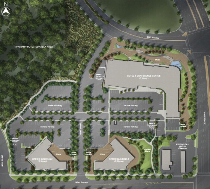 Proposed site plan for the Carvolth Business Park