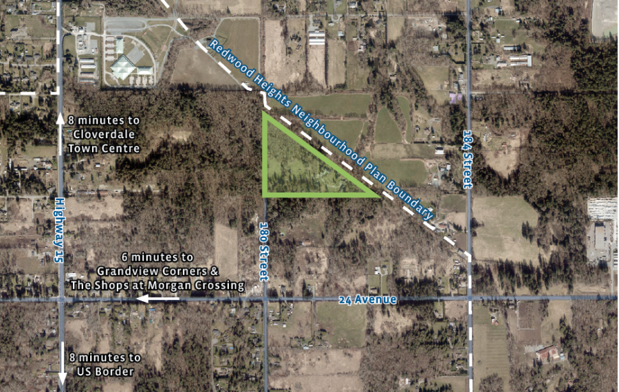 16.73 Acre Development Property in South Surrey