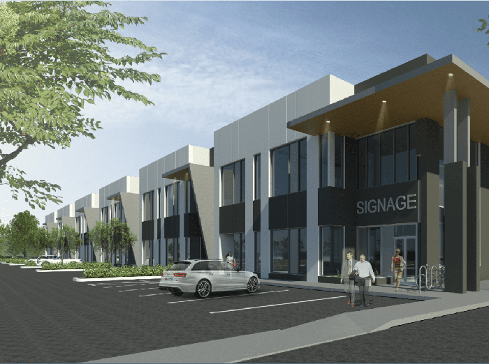 Artist rendering of 27th Avenue Business Centre
