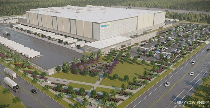 Artist rendering of future Walmart distribution centre