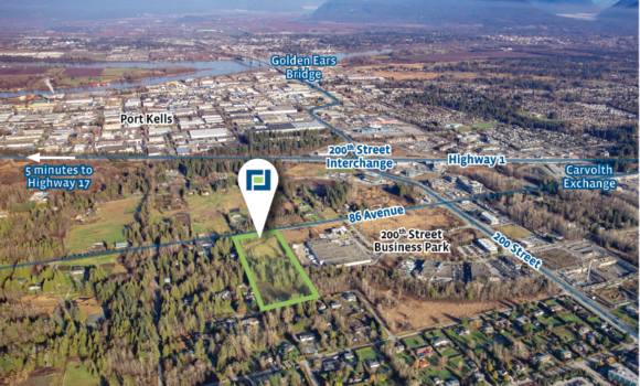 "6 Acre ""Mixed Employment"" Development Site in Langley"