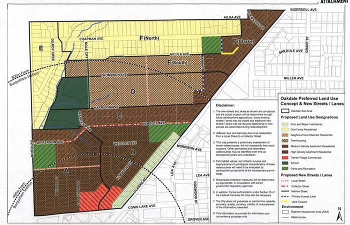 Proposed Oakdale Land Use Map (City of Coquitlam)