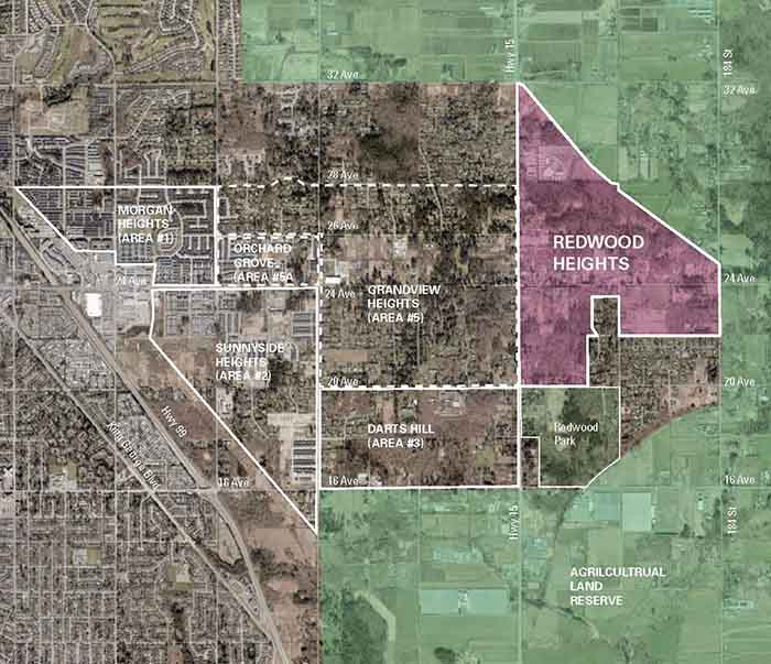 Redwood Heights context map, source: City of Surrey Corporate Report May 4, 2020