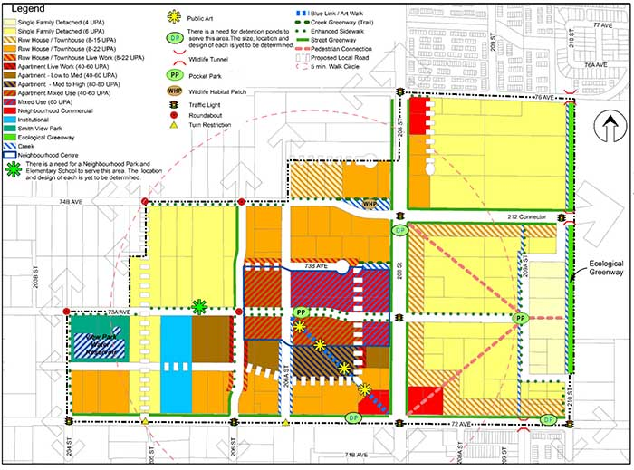 The approved Smith land use plan (land use map excerpt)