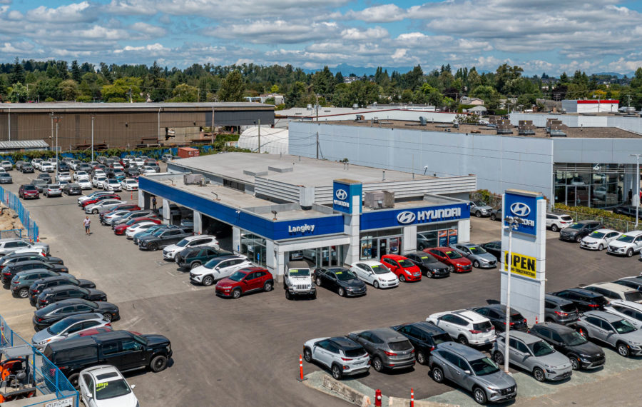 10,848 sf Auto Dealership Building on the Langley Auto Mile